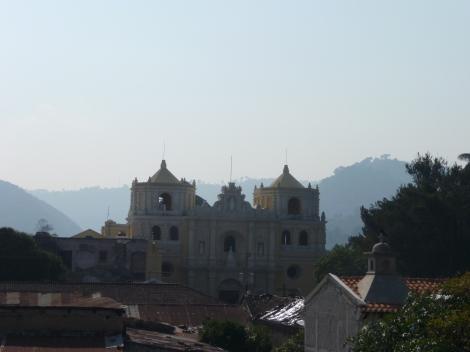Antiqua and hills surrounding Volcan Pacaya