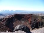 Red Crater, hiking the Tongariro Crossing