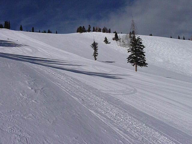 Empty groomed runs at Beaver Creek, Colorado