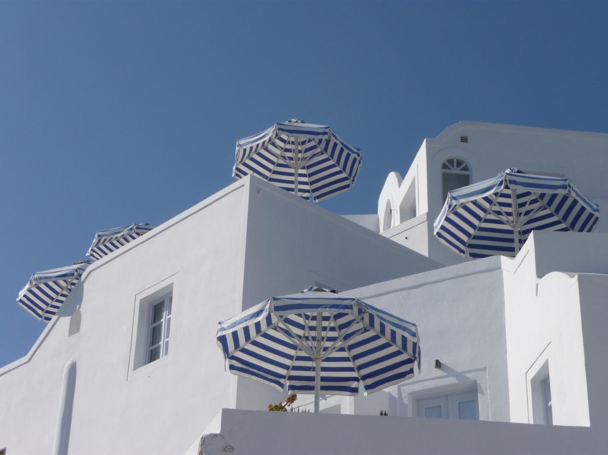 Santorini Umbrellas
