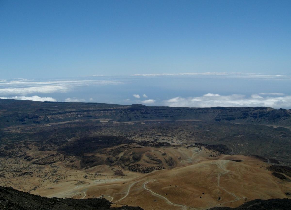 Mt tiede crater