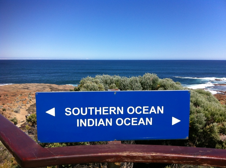 Southern and Indian ocean meeting point