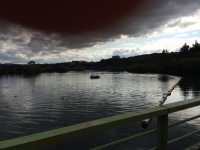 Storm cloud over Lake Aratiatia